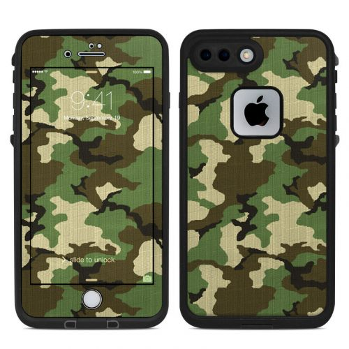 Woodland Camo LifeProof iPhone 8 Plus fre Case Skin