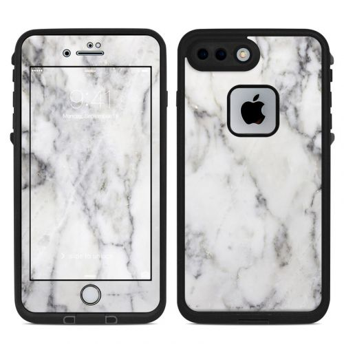White Marble LifeProof iPhone 8 Plus fre Case Skin