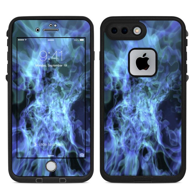 LifeProof iPhone 8 Plus fre Case Skin design of Water, Purple, Blue, Violet, Organism, Fractal art, Electric blue, Art, Graphics, Pattern with blue, black, purple colors