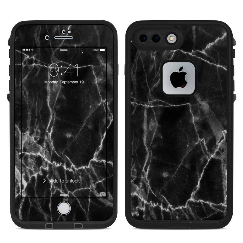Black Marble LifeProof iPhone 8 Plus fre Case Skin