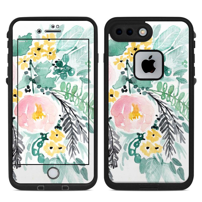 Blushed Flowers LifeProof iPhone 8 Plus fre Case Skin