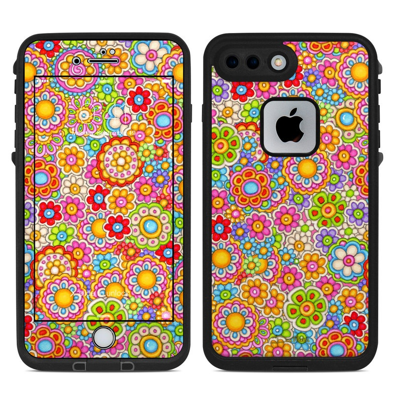Bright Ditzy LifeProof iPhone 8 Plus fre Case Skin