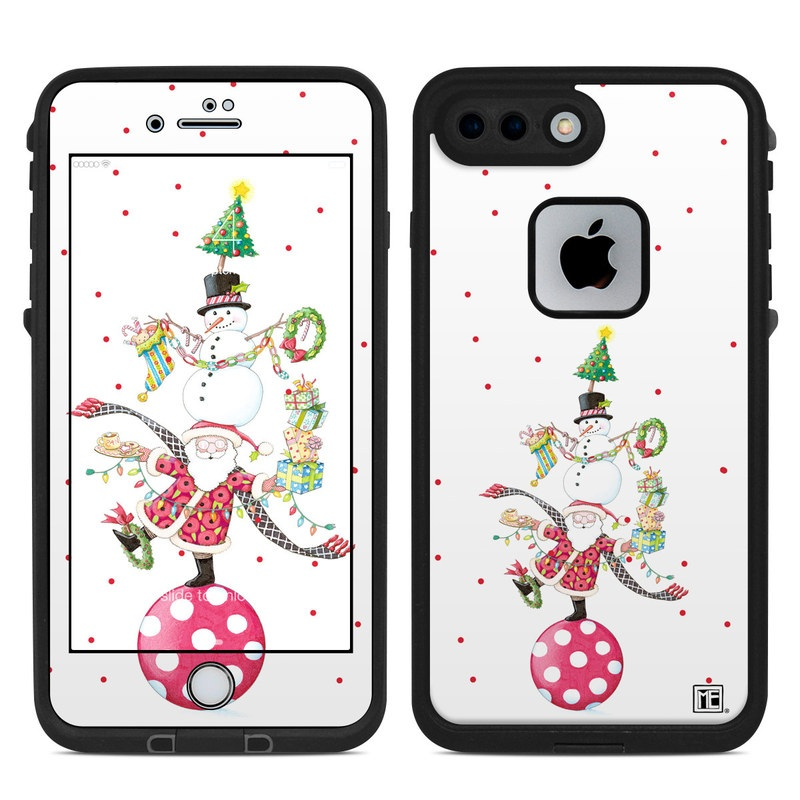 LifeProof iPhone 8 Plus fre Case Skin design of Clip art, Holiday ornament, Fictional character with white, red, green, black, blue colors