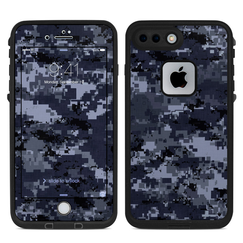 on sale 2e610 df216 Digital Navy Camo LifeProof iPhone 8 Plus fre Case Skin