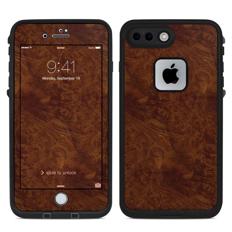 Dark Burlwood LifeProof iPhone 8 Plus fre Case Skin
