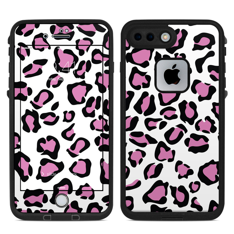 LifeProof iPhone 8 Plus fre Case Skin design of Pink, Pattern, Design, Textile, Magenta with white, black, gray, purple, red colors