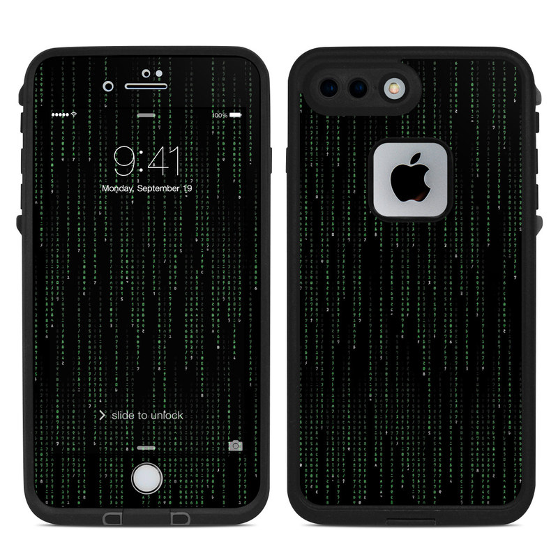 Matrix Style Code LifeProof iPhone 8 Plus fre Case Skin