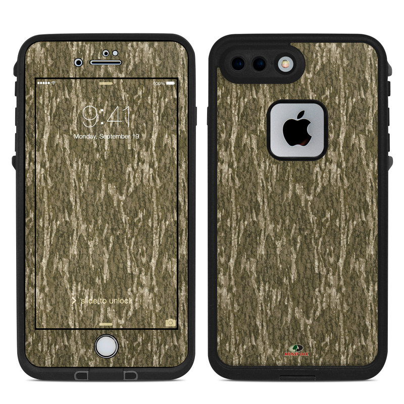 LifeProof iPhone 8 Plus fre Case Skin design of Grass, Brown, Grass family, Plant, Soil with black, red, gray colors