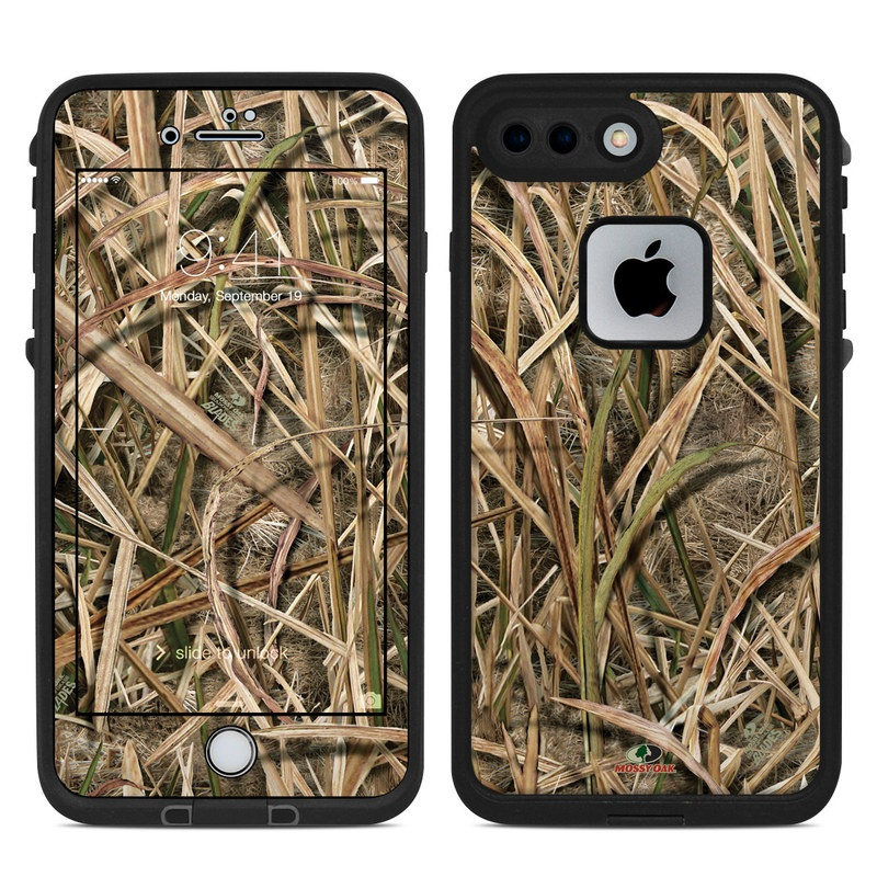 LifeProof iPhone 8 Plus fre Case Skin design of Grass, Straw, Plant, Grass family, Twig, Adaptation, Agriculture with black, green, gray, red colors