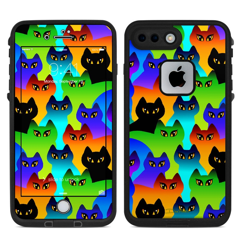 Rainbow Cats LifeProof iPhone 8 Plus fre Case Skin