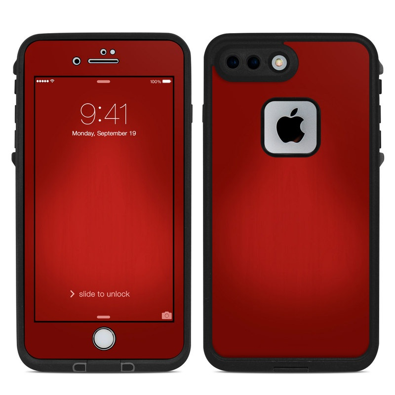 Red Burst LifeProof iPhone 8 Plus fre Case Skin