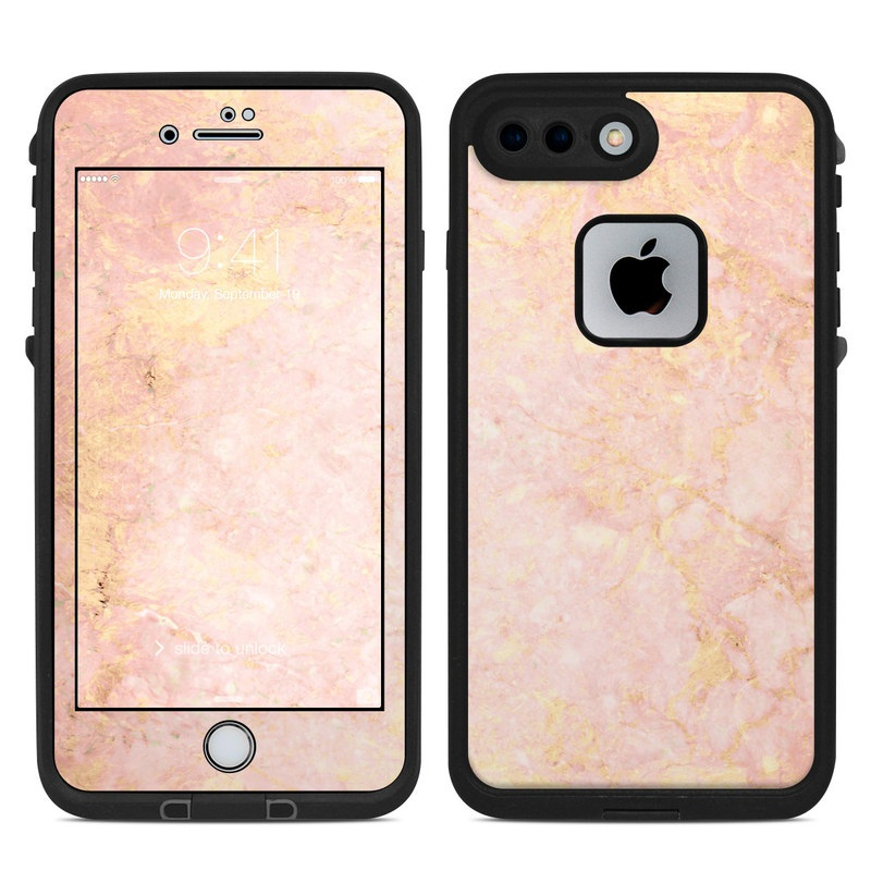 buy online d0cb3 f6f2a Rose Gold Marble LifeProof iPhone 8 Plus fre Case Skin
