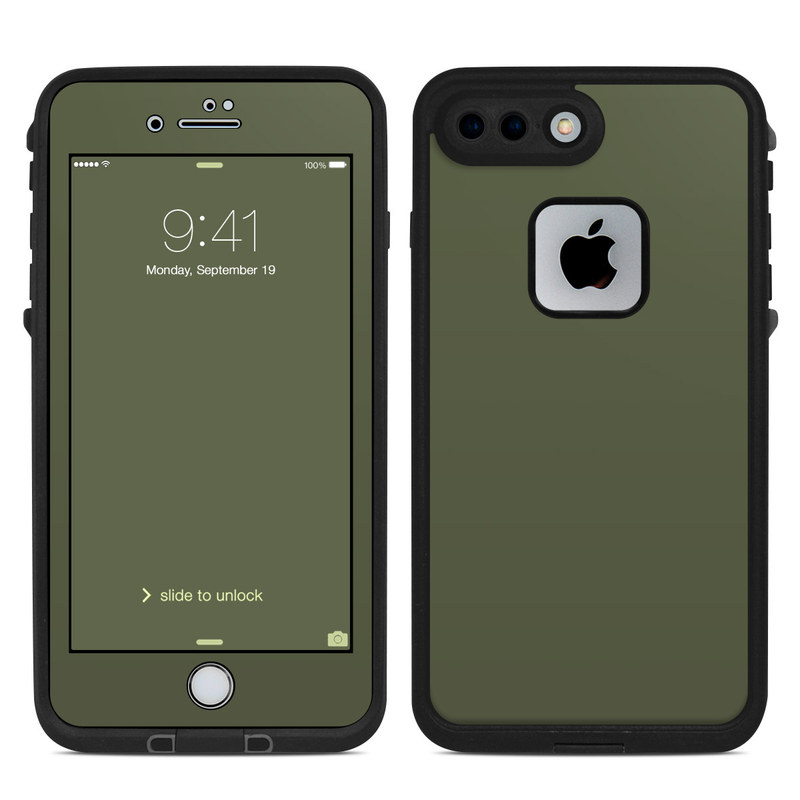 Solid State Olive Drab LifeProof iPhone 8 Plus fre Case Skin