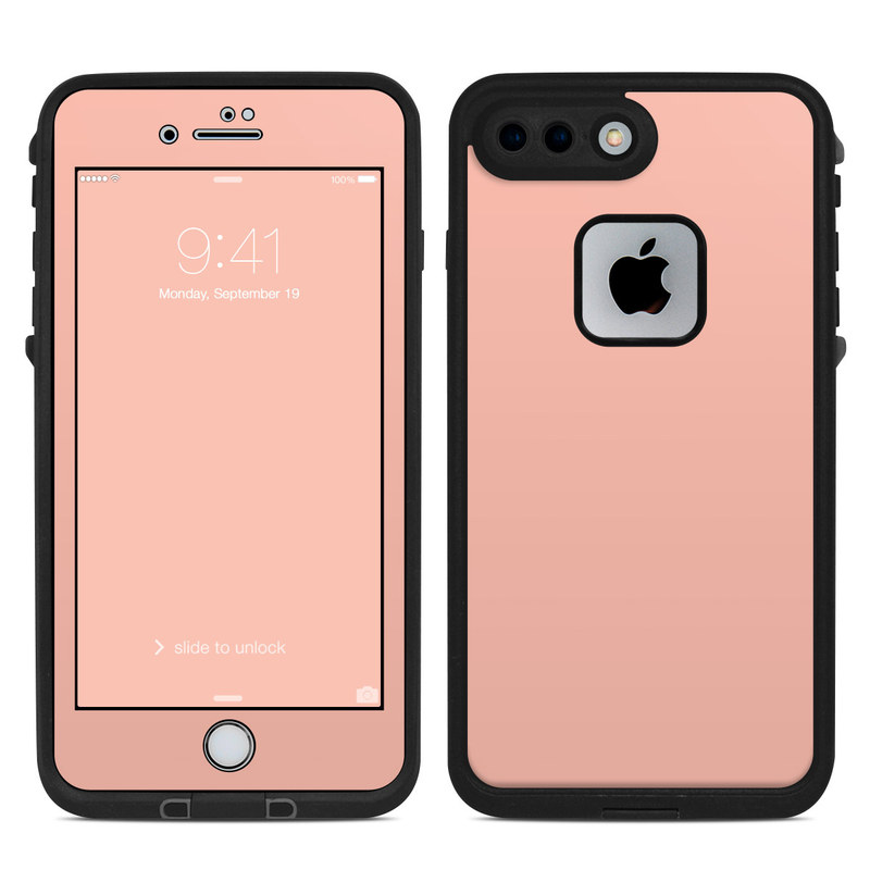 Solid State Peach LifeProof iPhone 7 Plus fre Case Skin