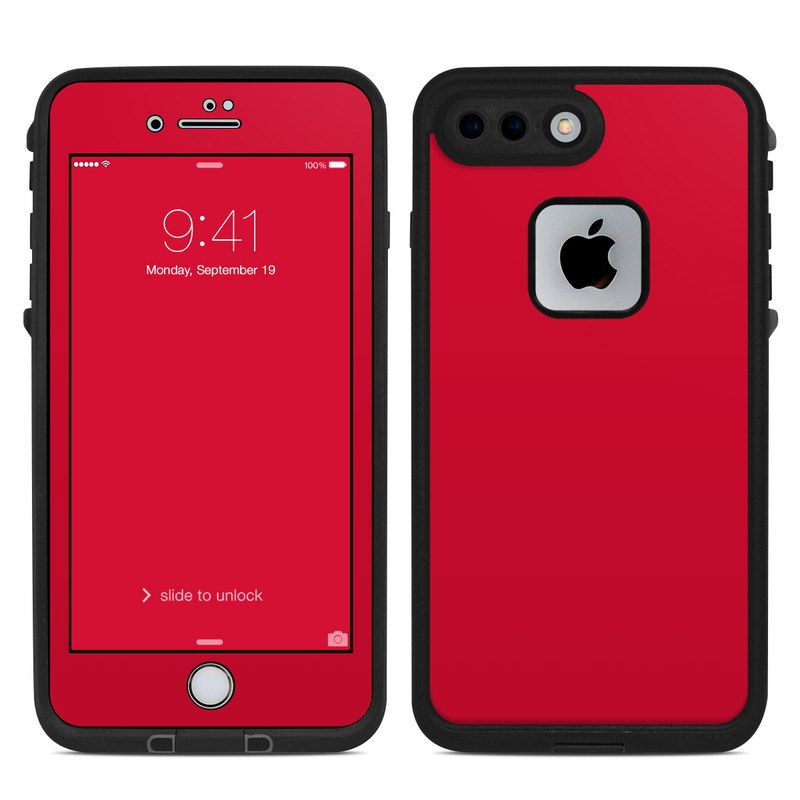 online store fc958 63230 Solid State Red LifeProof iPhone 8 Plus fre Case Skin