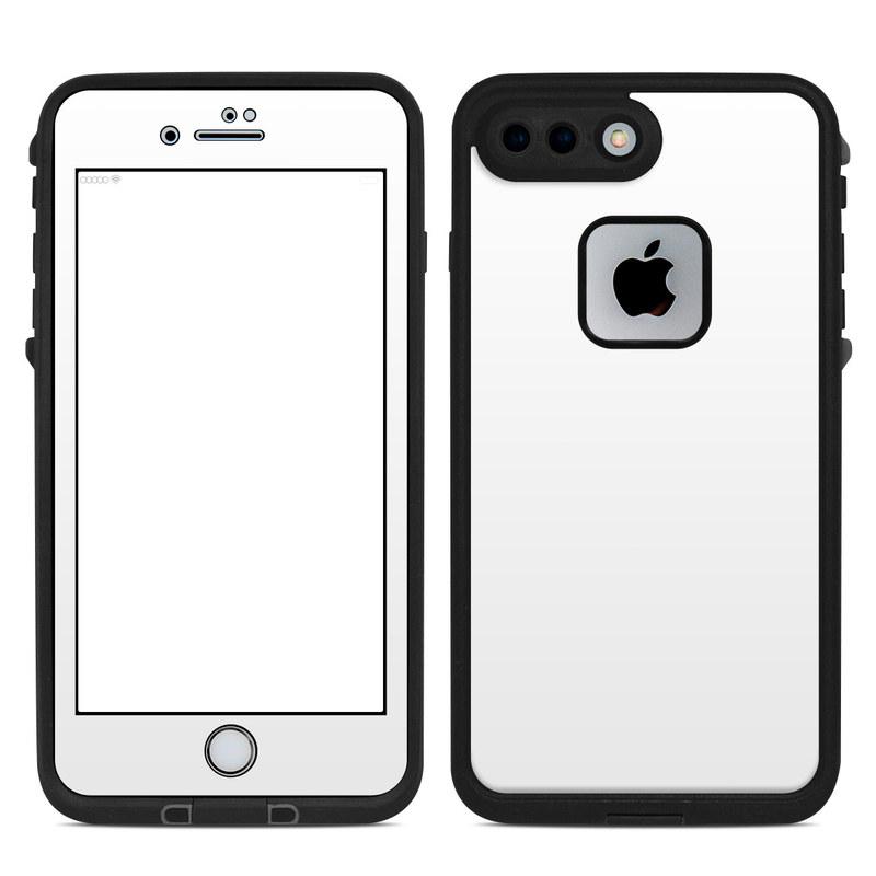 LifeProof iPhone 8 Plus fre Case Skin design of White, Black, Line with white colors