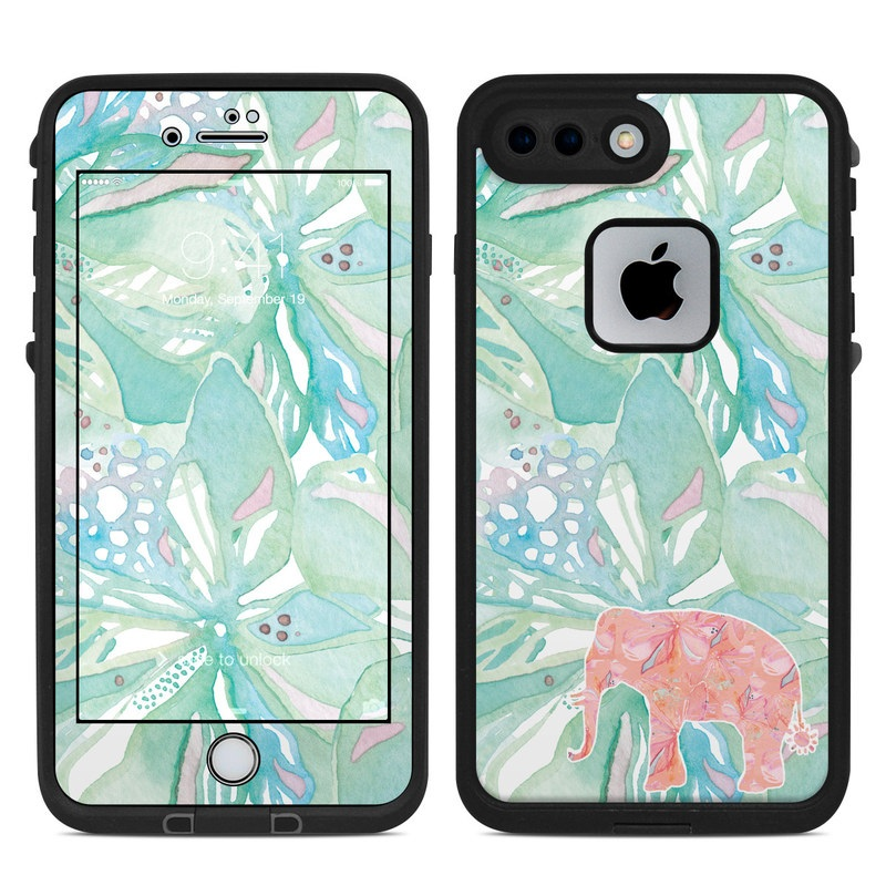 hot sale online 2ba79 0a16f Tropical Elephant LifeProof iPhone 8 Plus fre Case Skin
