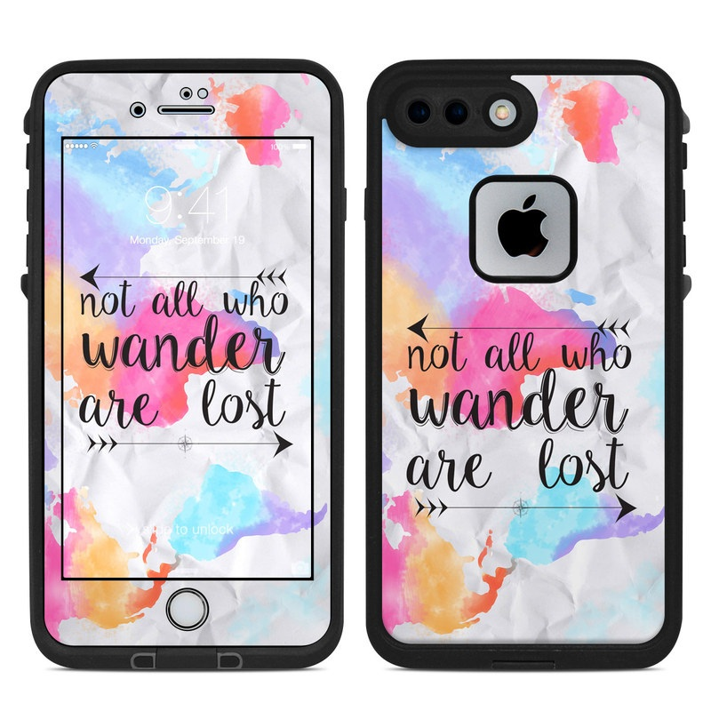 LifeProof iPhone 8 Plus fre Case Skin design of Font, Text, Calligraphy, Graphics with black, white, orange, pink, red, blue, purple, yellow colors