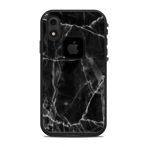 Black Marble LifeProof iPhone XR fre Case Skin