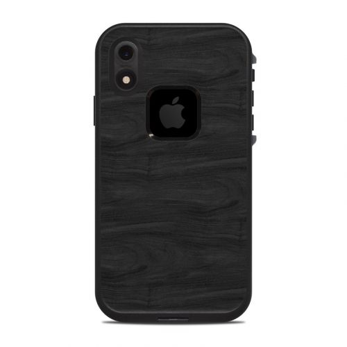 Black Woodgrain LifeProof iPhone XR fre Case Skin