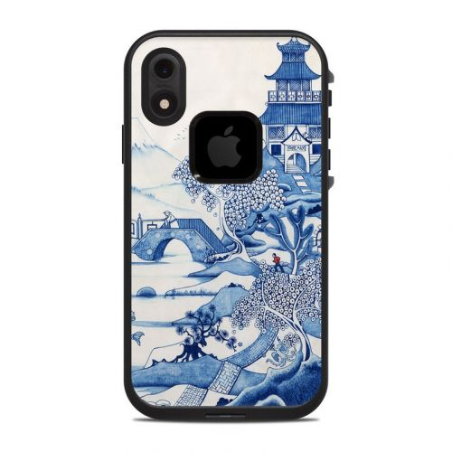Blue Willow LifeProof iPhone XR fre Case Skin