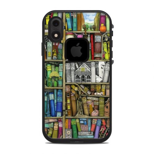 Bookshelf LifeProof iPhone XR fre Case Skin