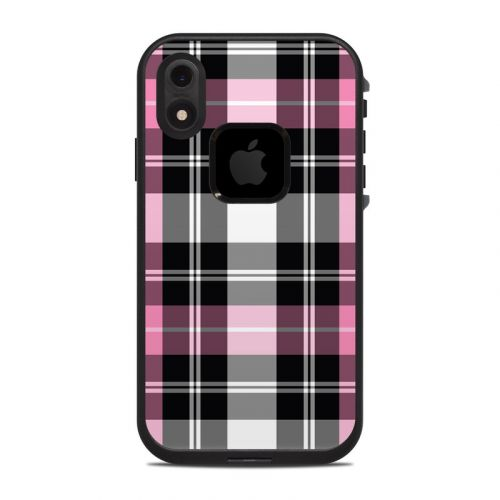 Pink Plaid LifeProof iPhone XR fre Case Skin