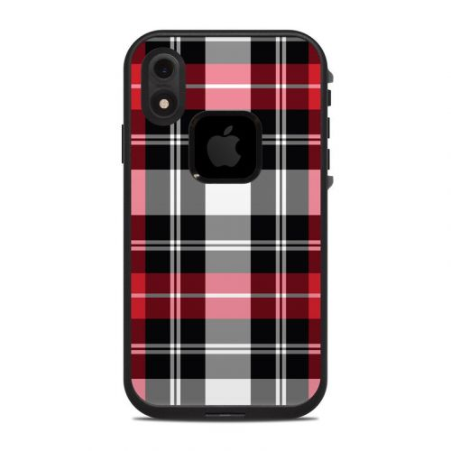 Red Plaid LifeProof iPhone XR fre Case Skin