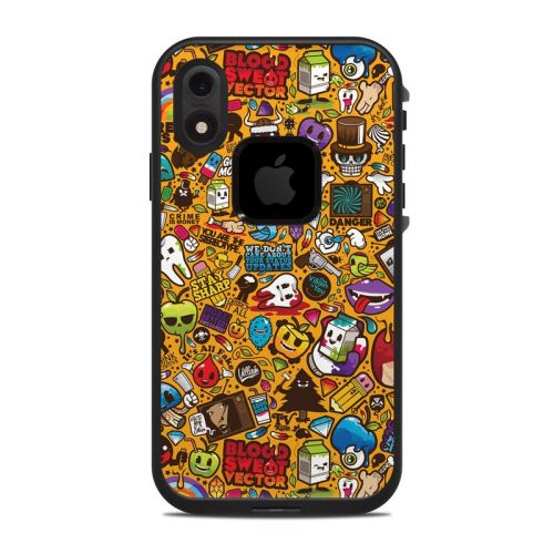 Psychedelic LifeProof iPhone XR fre Case Skin