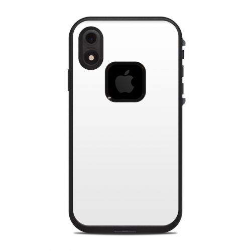 Solid State White LifeProof iPhone XR fre Case Skin