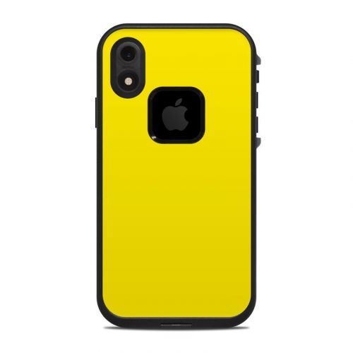 Solid State Yellow LifeProof iPhone XR fre Case Skin