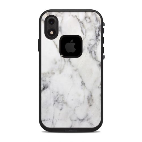 White Marble LifeProof iPhone XR fre Case Skin