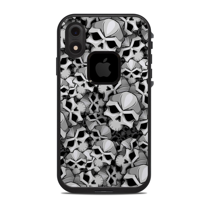 LifeProof iPhone XR fre Case Skin design of Pattern, Black-and-white, Monochrome, Ball, Football, Monochrome photography, Design, Font, Stock photography, Photography with gray, black colors