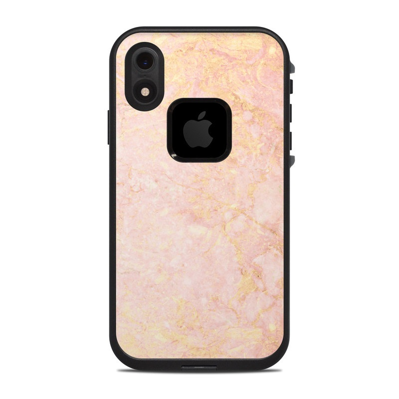 online store 5d1e7 97701 Rose Gold Marble LifeProof iPhone XR fre Case Skin