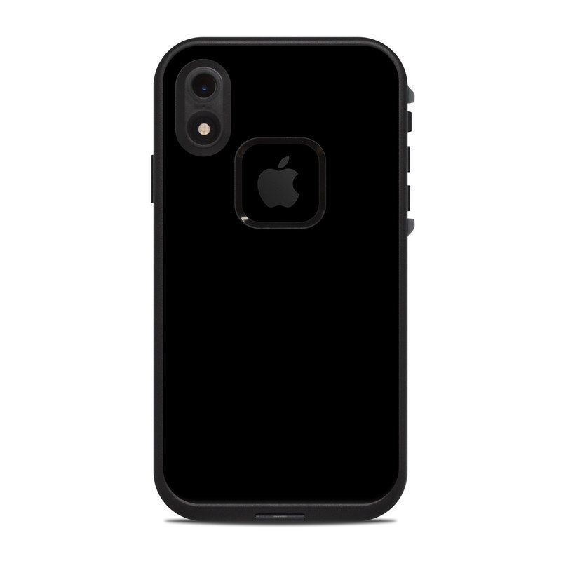 LifeProof iPhone XR fre Case Skin design of Black, Darkness, White, Sky, Light, Red, Text, Brown, Font, Atmosphere with black colors