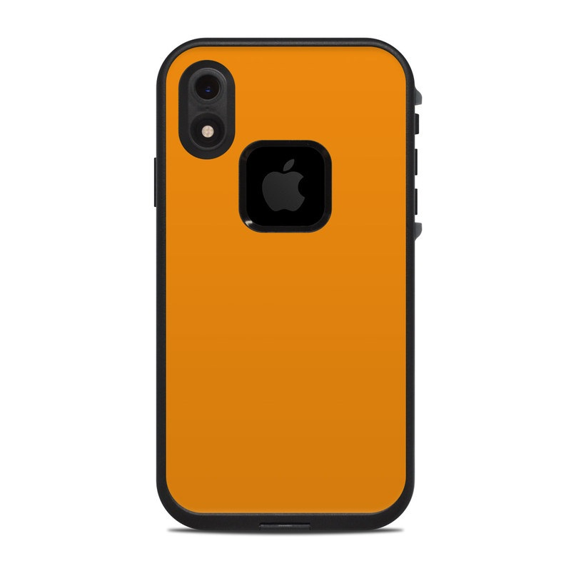 Lifeproof Iphone Xr Fre Case Skin Design Of Orange Yellow Brown Text