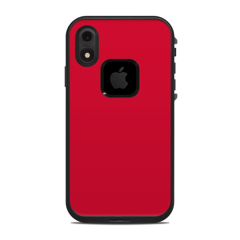 LifeProof iPhone XR fre Case Skin design of Red, Pink, Maroon, Purple, Orange, Violet, Magenta, Material property, Font, Peach with red colors