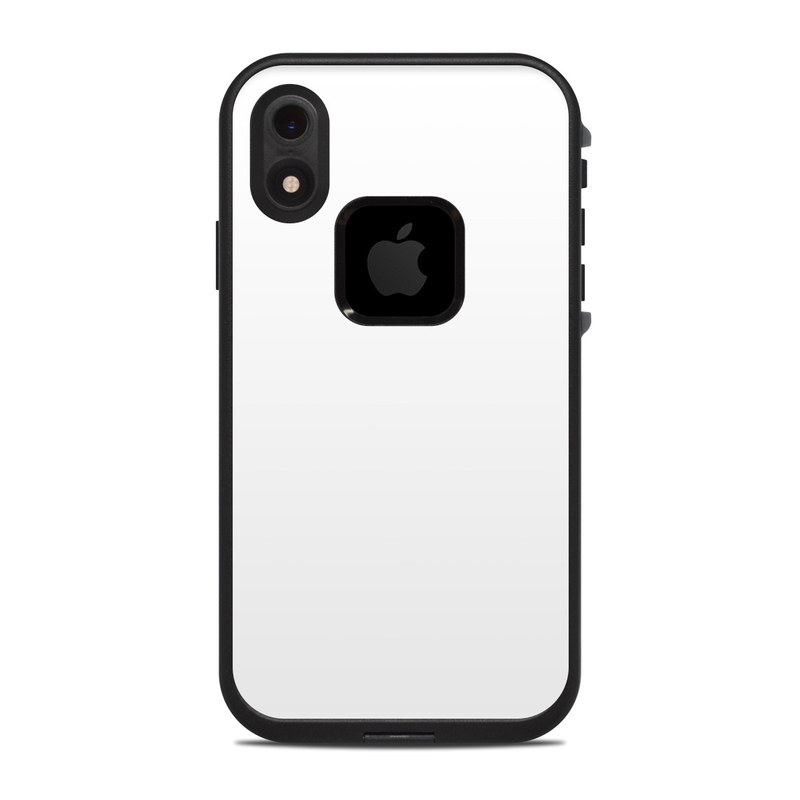 premium selection 06cac a590c Solid State White LifeProof iPhone XR fre Case Skin