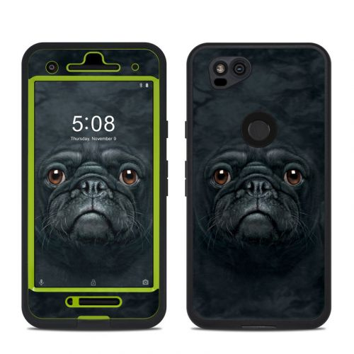 Black Pug LifeProof Pixel 2 fre Case Skin