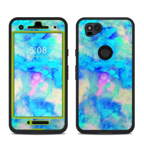Electrify Ice Blue LifeProof Pixel 2 fre Case Skin
