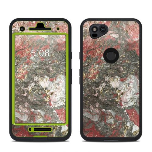 Gilded Magma Marble LifeProof Pixel 2 fre Case Skin
