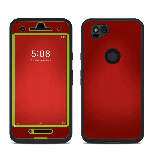 Red Burst LifeProof Pixel 2 fre Case Skin