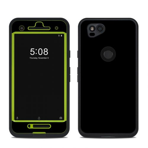 Solid State Black LifeProof Pixel 2 fre Case Skin
