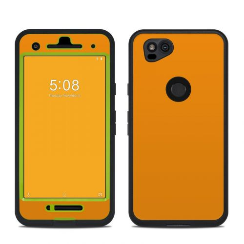 Solid State Orange LifeProof Pixel 2 fre Case Skin