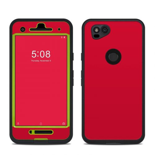 Solid State Red LifeProof Pixel 2 fre Case Skin