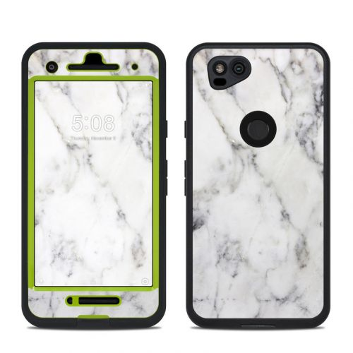 White Marble LifeProof Pixel 2 fre Case Skin
