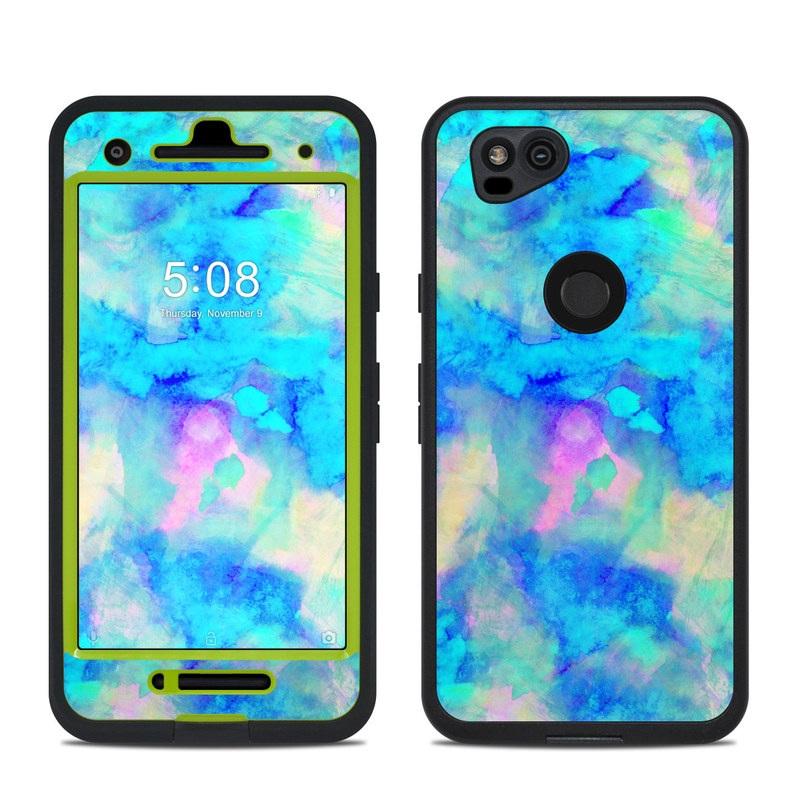 Electrify Ice Blue LifeProof Pixel 2 fre Case Skin