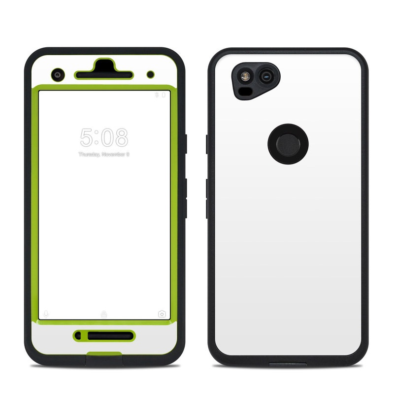 LifeProof Pixel 2 fre Case Skin design of White, Black, Line with white colors