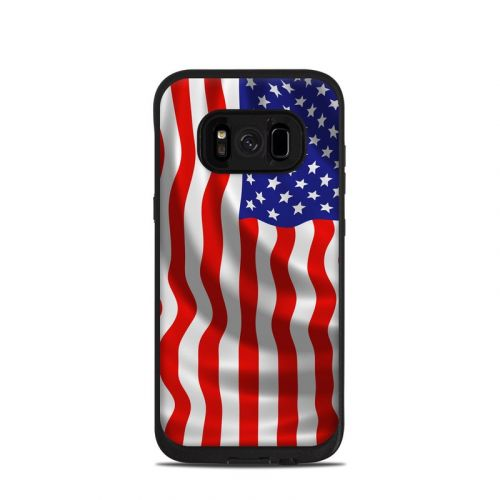 USA Flag LifeProof Galaxy S8 fre Case Skin