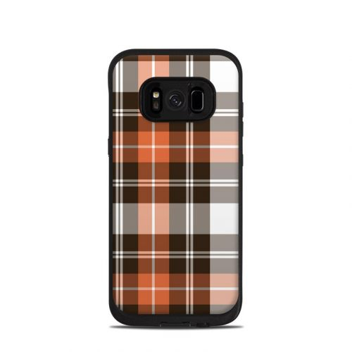 Copper Plaid LifeProof Galaxy S8 fre Case Skin